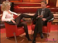 Upskirt di Maria Furtwängler in collant neri: video mozzafiato
